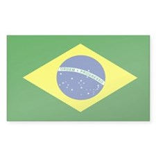 Brazilian Flag Rectangle Decal