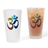 Om 2 Drinking Glass