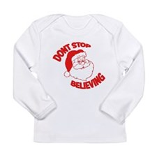 Don't Stop Believing Red Long Sleeve Infant T-Shir