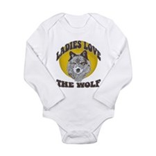 Ladies Love the Wolf Long Sleeve Infant Bodysuit