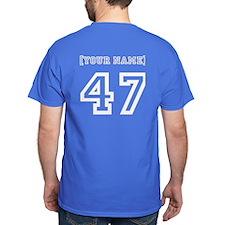 "2-Sided ""NUMBER 47"" Tee w/Custom Name"