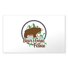 Bear's Gone Fishin' Decal