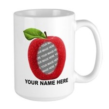 Custom Photo And Text Apple Mugs