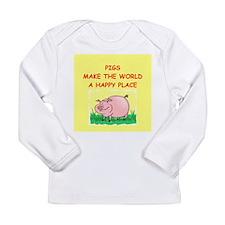 pigs Long Sleeve Infant T-Shirt