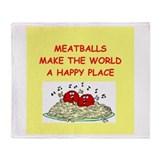 meatballs Throw Blanket