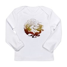 Chinese Dragon & Pheasant Long Sleeve Infant T-Shi