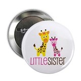 "Giraffe Little Sister 2.25"" Button"