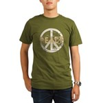 Distressed Peace Organic Men's T-Shirt (dark)