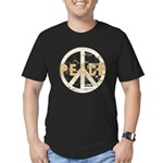Distressed Peace Men's Fitted T-Shirt (dark)