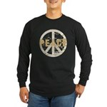 Distressed Peace Long Sleeve Dark T-Shirt