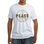 Distressed Peace Fitted T-Shirt