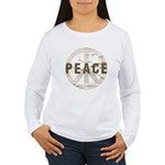 Distressed Peace Women's Long Sleeve T-Shirt