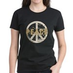 Distressed Peace Women's Dark T-Shirt