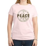 Distressed Peace Women's Light T-Shirt