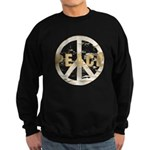 Distressed Peace Sweatshirt (dark)