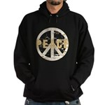 Distressed Peace Hoodie (dark)