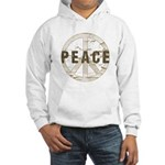 Distressed Peace Hooded Sweatshirt