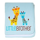 Giraffe Little Brother baby blanket