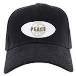 Distressed Peace Black Cap