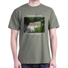 Tahquamenon Falls Summer Black T-Shirt