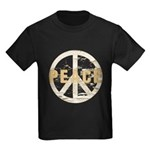 Distressed Peace Kids Dark T-Shirt