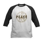 Distressed Peace Kids Baseball Jersey