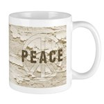 Distressed Peace Mug