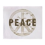 Distressed Peace Throw Blanket