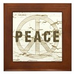Distressed Peace Framed Tile