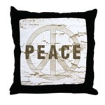 Distressed Peace Throw Pillow