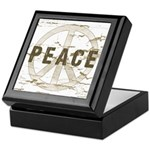 Distressed Peace Keepsake Box