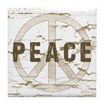 Distressed Peace Tile Coaster