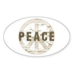 Distressed Peace Sticker (Oval 10 pk)