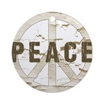 Distressed Peace Ornament (Round)