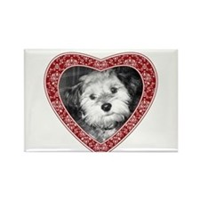 ADD PHOTO - heart frame Rectangle Magnet