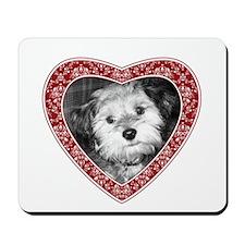 ADD PHOTO - heart frame Mousepad