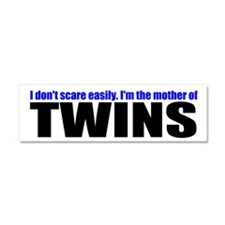 Hard to scare mother of twins Car Magnet 10 x 3