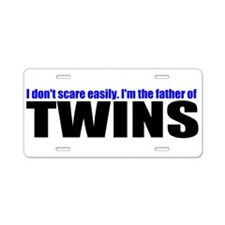 Hard to scare mother of twins Aluminum License Pla