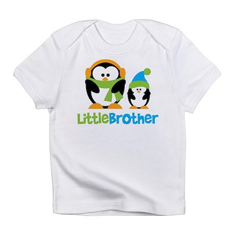 2 Penguins Little Brother Infant T-Shirt