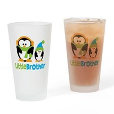 2 Penguins Little Brother Drinking Glass