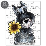Sunflower Schnauzer Puzzle