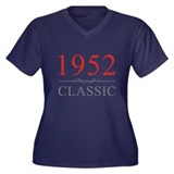 1952 Classic Women's Plus Size V-Neck Dark T-Shirt