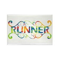 Colorful Runner Rectangle Magnet
