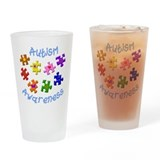 Autism awareness Pint Glasses