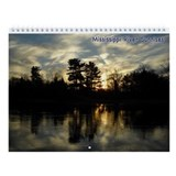 Mississippi River Sunrises Wall Calendar