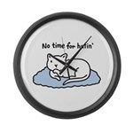No Time for Hatin' Large Wall Clock