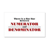 Numerator and Denominator Car Magnet 20 x 12
