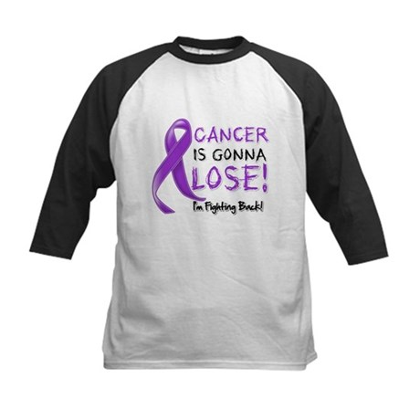 Pancreatic Cancer Lose Kids Baseball Jersey
