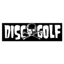 Sticker - Disc Golf Skull  Crossbones Bumper Stick