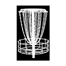 Sticker - Disc Golf Catcher White On Black
